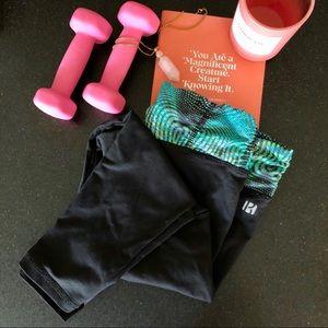 Koral Activewear Blk/Grn Mesmerize Yoga Leggings